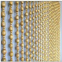 GuoWei Beige Perlenvorhang Türvorhang Holz zum