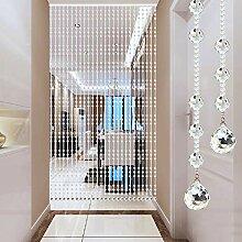 GuoWei Perlenvorhang Türvorhang Glas Kristall