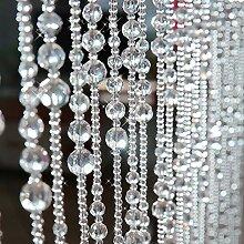 GuoWei Perlenvorhang Türvorhang Glas Kristall zum