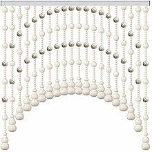 GuoWei Perlenvorhang Türvorhang Hölzern Perlen