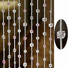 GuoWei Perlenvorhang Türvorhang Kristall Glas zum