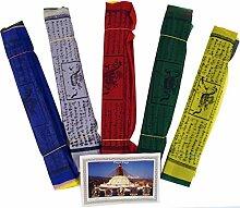 Guru-Shop 5 Stück Sparpack Gebetsfahnen (Tibet)