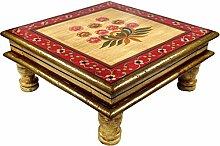 Guru-Shop Bemalter Kleiner Tisch, Minitisch,