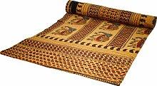 Guru-Shop Blockdruck Tagesdecke, Bett & Sofaüberwurf, Handgearbeiteter Wandbehang, Wandtuch - Gelb Elefant, Baumwolle, Größe: Double 225x275 cm, Heimtextilien