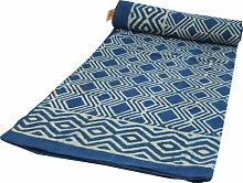 Guru-Shop Blockdruck Tagesdecke, Bett & Sofaüberwurf, Handgearbeiteter Wandbehang, Wandtuch - Indigo Raute, Blau, Baumwolle, Größe: Double 225x275 cm, Heimtextilien