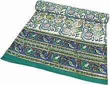 Guru-Shop Blockdruck Tagesdecke, Bett &