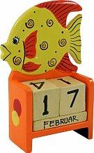 Guru-Shop Bunter Kinder-Kalender Fisch, 15x10x6 cm, Kindermöbel, Deko