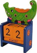 Guru-Shop Bunter Kinder-Kalender Krokodil, 15x10x6 cm, Kindermöbel, Deko