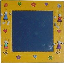 Guru-Shop Bunter Kinderspiegel, 40x40x1 cm, Dekoration Für`s Kinderzimmer