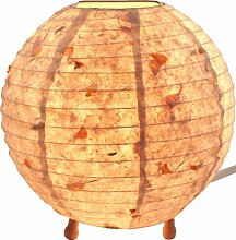 Guru-Shop Corona Round Reispapier Stehlampe