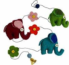 Guru-Shop Deko Kette, Elefanten Kette,