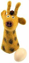 Guru-Shop Filz Eierwärmer - Giraffe, Gelb,