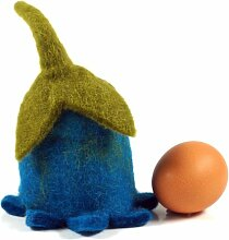 Guru-Shop Filz Eierwärmer Glockenblume, Blau,