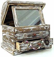 Guru-Shop Mini Schminkkommode, Spiegelschatulle