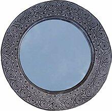 Guru-Shop Round Ostimor Mirror With Ornaments,