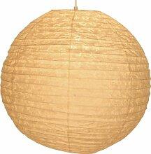 GURU SHOP Runder Lokta Papierlampenschirm,