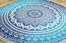 Guru-Shop Rundes Indisches Mandala Tuch,