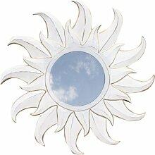 Guru-Shop Sonnenspiegel Antikweiß 2, 60x60x1 cm,