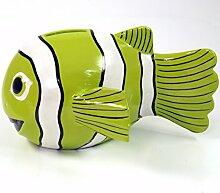 Guru-Shop Spardose Clownfisch, Lemongrün, Farbe: