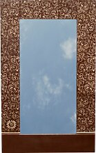 Guru-Shop Spiegel `Bagru` Nr. 9, 80x50 cm, Spiegel