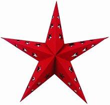 Guru-Shop Stern Lichterkette Mini - Rot, Ministerne, Lichterketten