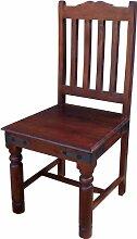 Guru-Shop Stuhl im Kolonialstil R444 Dunkel -