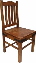 Guru-Shop Stuhl im Kolonialstil R580 Hell, Akazienholz, 100x45x45 cm, Sitzmöbel