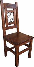 Guru-Shop Stuhl im Kolonialstil R628, Akazienholz,