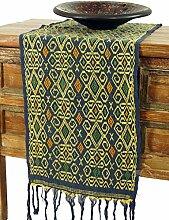 Guru-Shop Traditionelles Handgewebtes Ikat Tuch,