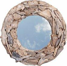 Guru-Shop Treibgut-Spiegel Rund 90cm, 90x90x10 cm,