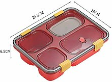 GURUGU Tragbares Plastikfach Mikrowelle Lunchbox