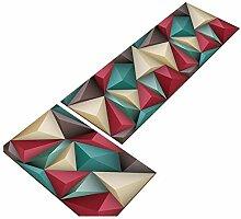 GUSJ 2 Stück Geometrisches Muster Küchenteppich
