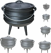 Gusseisen African Pot Potjie Dutch Oven Feuertopf Grill Lagerfeuer Topf Größenauswahl Grillmaster, Größe:3 L