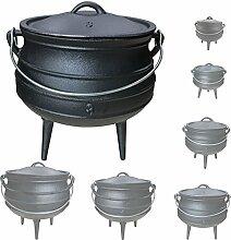 Gusseisen African Pot Potjie Dutch Oven Feuertopf Grill Lagerfeuer Topf Größenauswahl Grillmaster, Größe:8 L