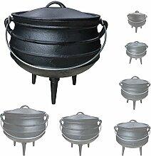 Gusseisen African Pot Potjie Dutch Oven Feuertopf Grill Lagerfeuer Topf Größenauswahl Grillmaster, Größe:14 L
