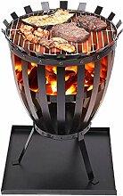 Gusseisen-Feuerstelle, Feuerkorb für den Garten,