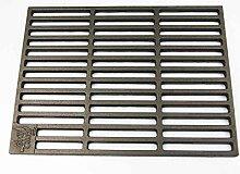 Gusseisen runde + eckige Grillroste viele Größen + Griffe Grillclub® Grill für Weber Gasgrill Holzkohle (50 x 35)