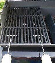 Gusseisen runde + eckige Grillroste viele Größen + Griffe Grillclub® Grill für Weber Gasgrill Holzkohle (29 x 38 cm + 2 Griffe)