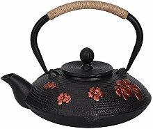 Gusseisen-Teekanne, 0,9 l rote orientalische
