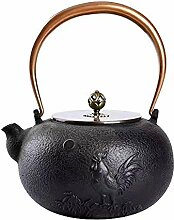 Gusseisen Teekanne Eisentopf Unbeschichtet
