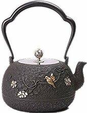 Gusseisen-Teekanne für den Herd, sicher, Vintage,