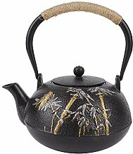 Gusseisen Teekanne,traditionelle elegante Bambus