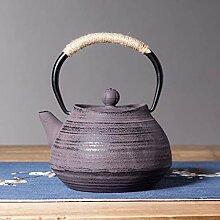 Gusseisen Teekessel - Spiral Textur Gusseisen