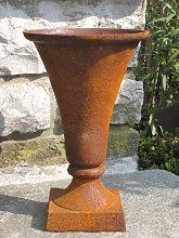 Gusseisen Vase mit Edelrostfinish (Gusseisen Vase: