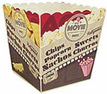 GUSTA 02150190 'Movies' Popcorn-Becher, Kunststoff, 9,7 x 9,7 x 10 cm (1 Stück)