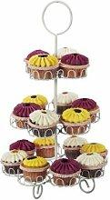 Gusta 29x 50cm Cupcake-Ständer, silber