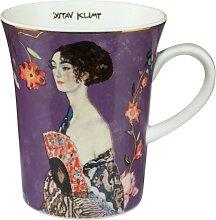 Gustav Klimt Becher, Tasse Dame mit Fächer H.