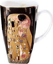 Gustav Klimt Becher, Tasse DER KUSS H. 14cm 450ml Goebel Porzellan (29,95 EUR / Stück)