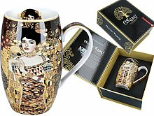 Gustav Klimt Carmani Porzellan-Tasse, verziert mit