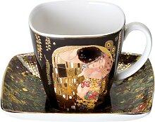 Gustav Klimt Espressotasse mit Untertasse Der Kuss